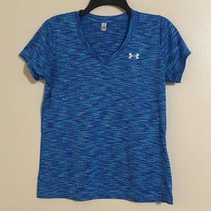 Women's Blue Under Armour Short Sleeve Shirt
